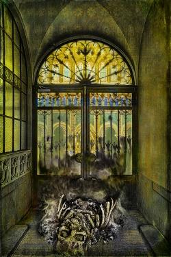 Berlin Gate Shadows SKUL Synogogue